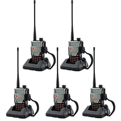 BaoFeng UV-5R Upgrade Version Dual Band Walkie Talkie VHF UHF Two Way Radio (5 Pack)