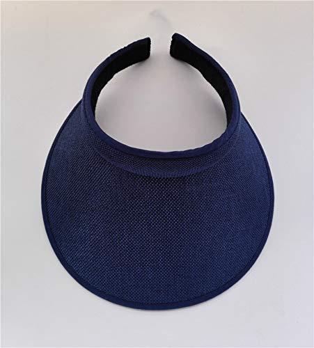 Sun Visor Beach Hats Adjustable Topless Straw Women Casual Summer Polyester Caps