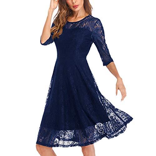 Pizzo Corto Girls Lunghe Donna Dress Nuziale Abito Corte Floreale Da Party Home Blue Con Festa Maniche Cerimonia In Jimmkey nYx81wYq4