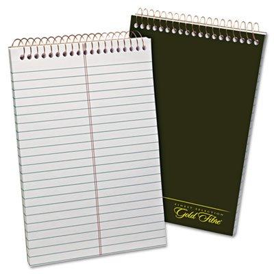 Ampad 20806 Gold Fibre Spiral Steno Book, Gregg, 6 x 9, White/Green, 100 Sheets