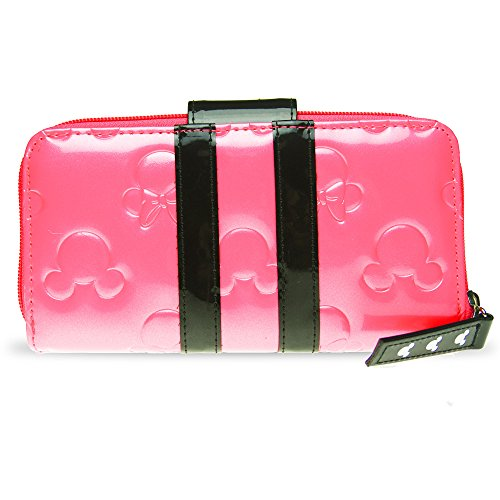 Disney Parks Bubble Gum Pink Loungefly Wallet Minnie Loves Mickey Mouse Clutch by Theme Park Merchandise (Image #1)