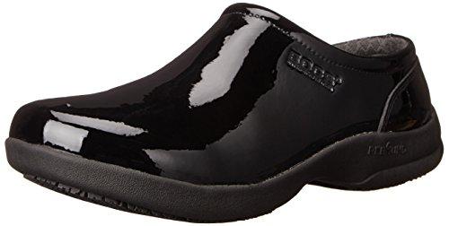 Womens Leather Slip Patent Shoe Black Bogs Work Resistant Ramsey gdIqCfwt