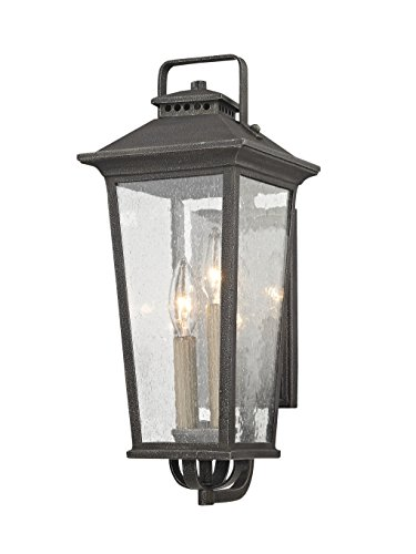 11 Parsons Field 2 Light Small Outdoor Wall Sconce, Aged Pewter ()
