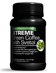 Xtreme Pure Green Coffee Bean Extract w/ Svetol - 60 Weight Loss Capsules: Diet Plan Supplement Pills - 800 mg / serving