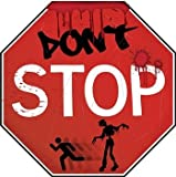 Zombie Lawn Signs Stop Sign Prop