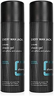 product image for Every Man Jack Shave Gel - Natural Menthol | 7-ounce Twin Pack - 2 Cans Included | Naturally Derived, Parabens-free, Pthalate-free, Dye-free, and Certified Cruelty Free