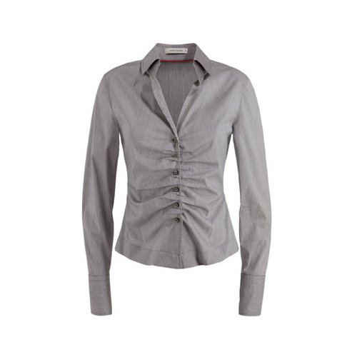 Manga Corporate Talla Gris Mujer Fashion 4131101208 Para 48 Blusa Franja Audi Larga YwHq1