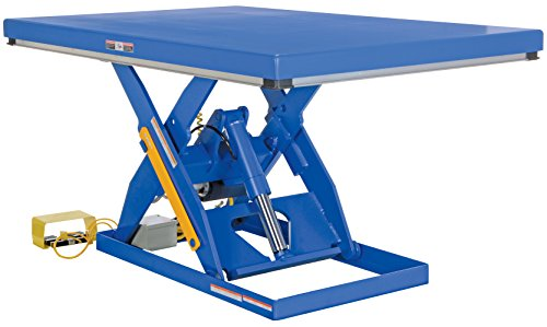 Vestil EHLT-2448-3-43FC Electric Hydraulic Scissor Lift Table with Foot Control, 3,000 lb. Capacity, 48