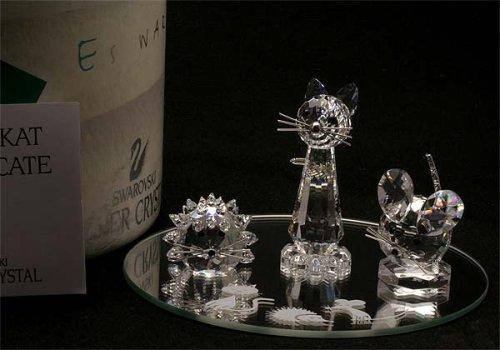 Authentic Swarovski Crystal Figurine: 3 Piece