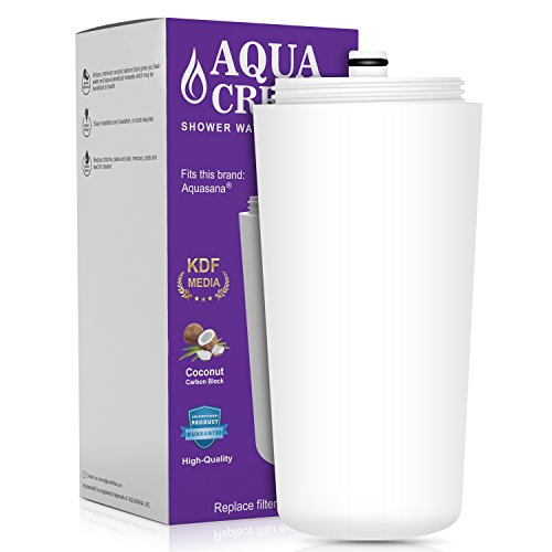 AQUACREST Replacement AQ 4125 Shower Water Filter, Compatible with Functionally Equivalent of Aquasana Shower System (Package May Vary)