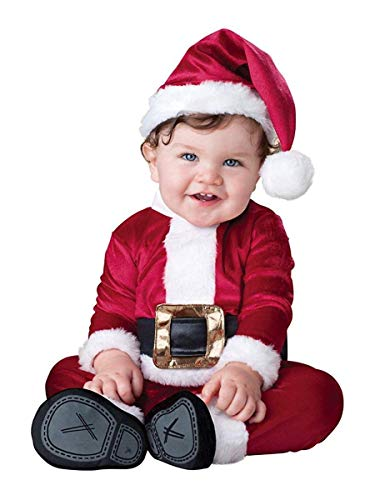 Fun World Boys Baby Santa Costume, Red/White, -