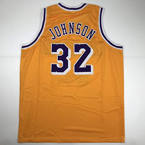 a25e53b0326 Unsigned Earvin Magic Johnson Los Angeles LA Yellow Custom Stitched  Basketball Jersey Size Men s XL New No Brands Logos