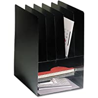 SteelMaster - Compact Combo Organizer, Eight Sections, Steel, 9 5/8 x 11 1/8 x 14 1/8, Black 2645VHBK (DMi EA