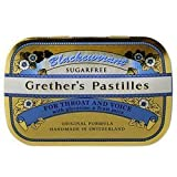 Grether's Blackcurrant Sugarfree Pastilles 15 ounces / 440 grams - Handmade in Switzerland