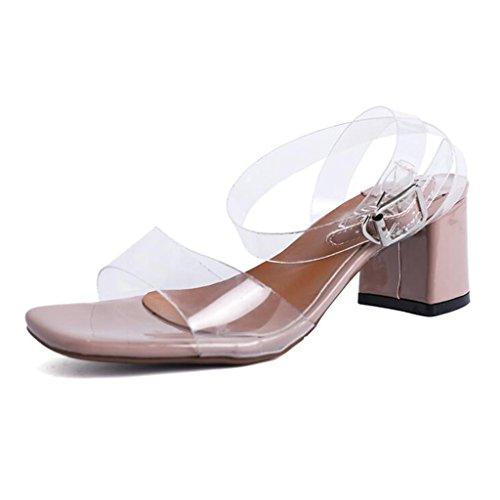 Sandals CJC High-Heeled Open Toe High Heels Thin High Heels Fashion Elegant Refreshing Pink