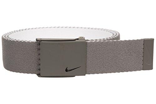 Nike Men's New Tech Essentials Reversible Web Belt, light charcoal/white, One Size