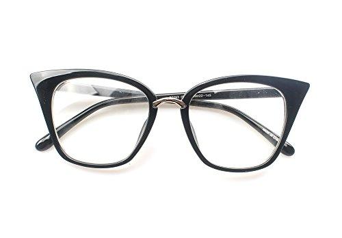 d944cfa2bc58 SOOLALA Womens Quality Readers Stylish Oversized Cat Eye Custom Reading  Glasses
