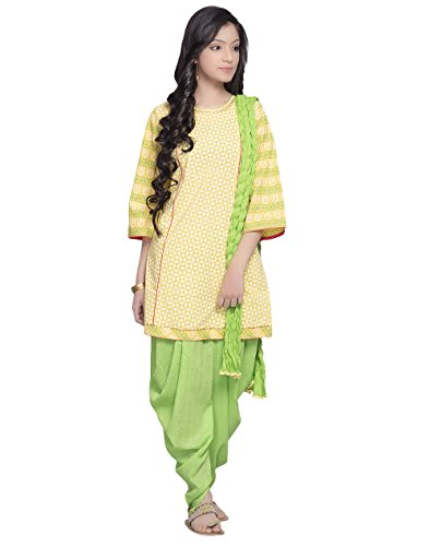 Fabindia Girls Cotton Kurta Set/L by Fabindia