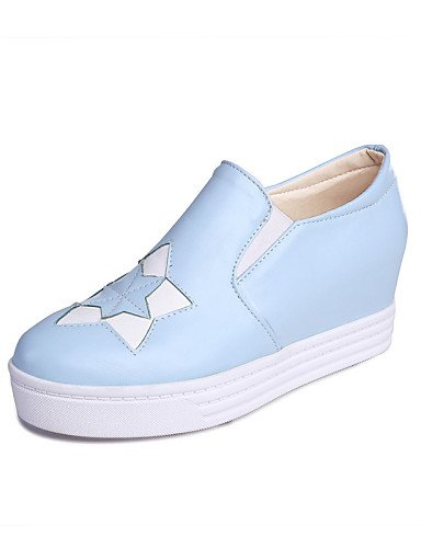 Blue Zq Gyht Azul tacón Casual 5 us6 Eu36 5 Cn36 Uk8 plataforma Pink Cn43 exterior Punta Creepers Mujer De Zapatos us10 mocasines Eu42 Cuña Redonda Rosa Uk4 semicuero Vestido negro r4Ianxdrqw