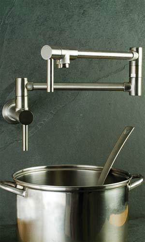 Newport Brass 9485/20 East Linear Double Handle Wall Mounted Pot Filler Faucet