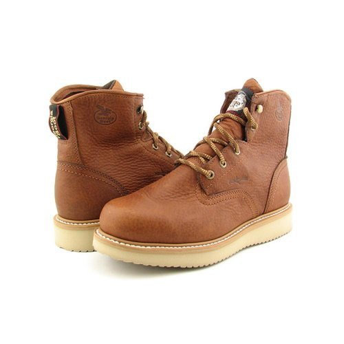 "Georgia Boot Work Men 6"" Farm N Ranch Wedge 13 W Barracuda G"