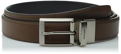 Nautica Men's Big-Tall 1 3/8 in. Saddle Leather Reversible Belt (1 3/8