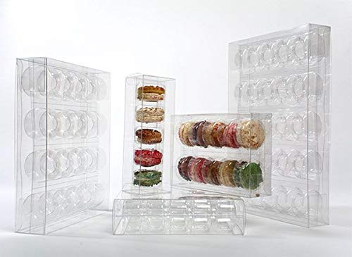 12 5/8'' x 7 3/8'' Crystal Clear French Macaron Box Inserts (10 Pieces) - CB-FPBI261