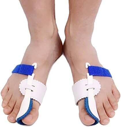2pcs Adjustable Velcro Bunion Night Splint Hammertoe Corrector Brace for Big Toes Joint Hallux Valgus Pain Relief