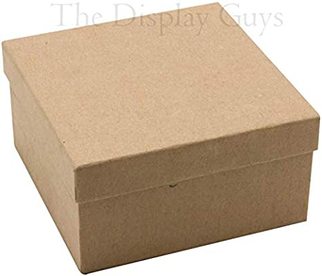 8 1//8 x 5 5//8 x 1 5//16 TheDisplayGuys 25-Pack #85 Cotton Filled Cardboard Paper Jewelry Box Gift Case Kraft Brown