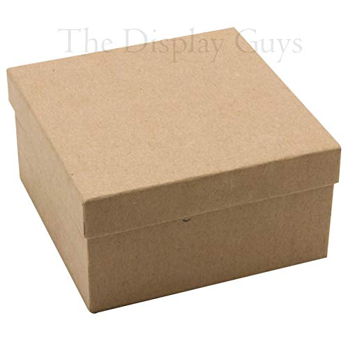 2 1//8x1 5//8x3//4 inches #11 Kraft The Display Guys Pack of 25 Cotton Filled Cardboard Paper Kraft Jewelry Box Gift Case