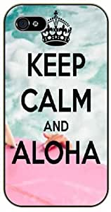 For Iphone 6Plus 5.5Inch Case Cover Keep calm and Aloha - black plastic case / Keep calm, funny, quotes