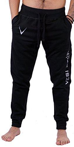 Vesi Star Men's Rival Fleece Jogger Pants (XX-Large, Black M Jogger)