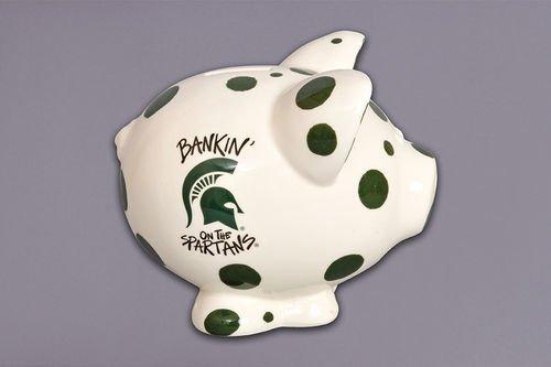 Ceramic Collegiate Piggy Bank (Michigan State Spartans)