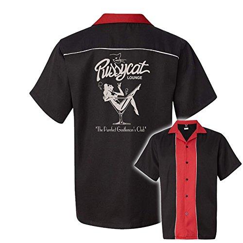 50's Style Bowling Shirt (Pussycat Lounge Stock Print on 50's Style Bowling Shirts)
