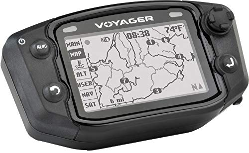 Trail Tech 912-122 Black Voyager GPS Digital Gauge Kit, Universal Snowmobile