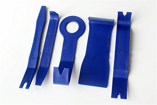 BININBOX Auto Door Clip Panel Trim Removal Tool Set Kits For Car Interior Dash Radio Audio Installer Pry Tool Portable Blue (2 Sets) by BININBOX (Image #1)