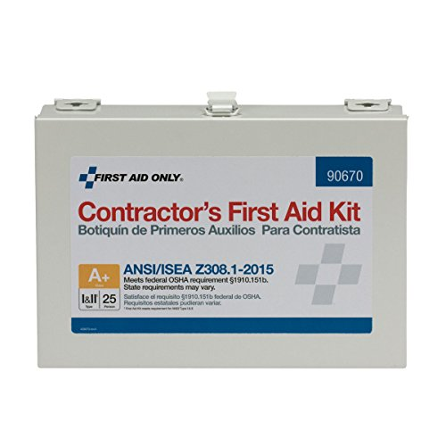First Aid Only 90670 ANSI 2015 Compliant 25 Person Class A+ Contractor First Aid Kit