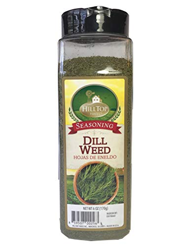 Hilltop Foods Natural Dill Weed-Seasoning Spices 6oz Container