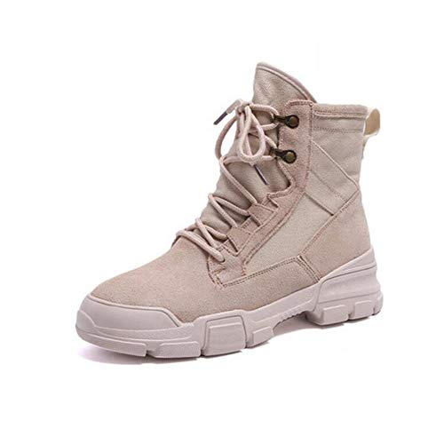 EU36 FH Martin Estudiantes Zapatos Botas Altos Size UK4 Individuales CN36 Femeninas Botas Color para Salvajes Boots Beige 66wRn5Urq