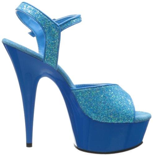 Delight 609uvg Blue Pleaser Punta Gltr Mujer Neon Sandalias para Abierta con Blue OHUqg
