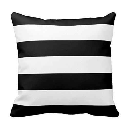 lightinglife sofá almohadas cojín blanco y negro rayas ...