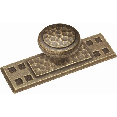Knob Belwith Windover Antique (Belwith P7529-Wda Backplate Windover Antique)