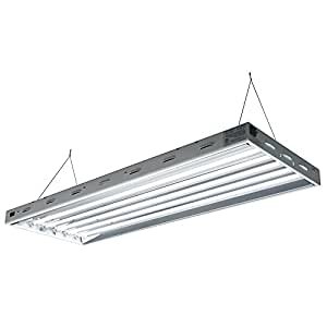 Sun Blaze T5 Fluorescent - 4 ft. Fixture | 6 Lamp | 120V - Indoor Grow Light Fixture for Hydroponic and Greenhouse Use