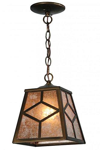 Meyda Tiffany 141534 Diamond Mission Mini Pendant Light Fixture, 8 sq. in.