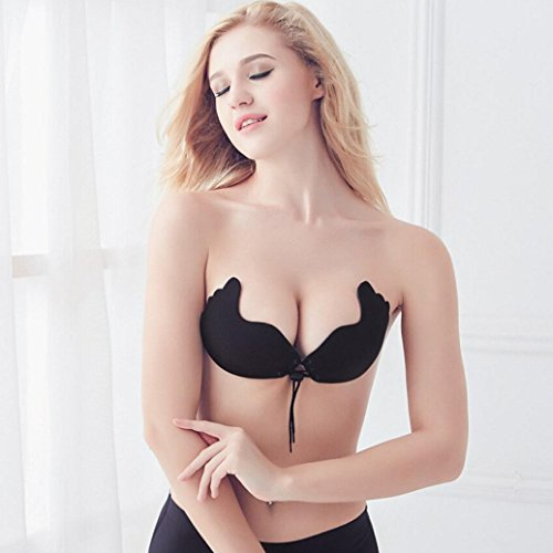 Amazon.com: Tsmile Hot Sale❤ {Underwear}Women/Push Up Bra/✿Invisible Silicone Instant Breast {Strapless Lingeries}: Clothing