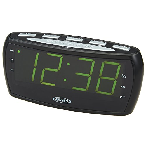 jensen-jcr-208a-am-fm-alarm-clock-radio-with-18-inch-green-led-display