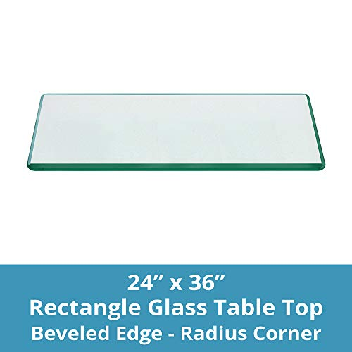 Rectangle Glass Table Top Custom Annealed Clear Tempered 3/8