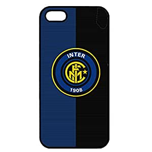 Iphone 5/5S Case,Inter-Football Club Internazionale Milano Logo Protective Phone Case Black Hard Plastic Case Cover For Iphone 5/5S