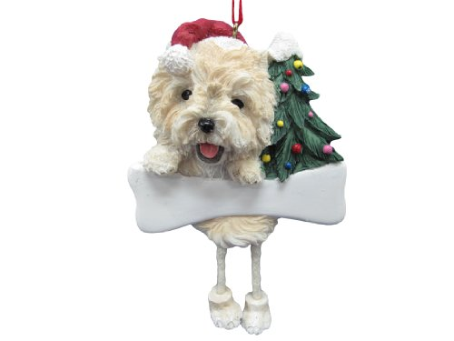 Cairn Terrier Dog Dangling/Wobbly Leg Christmas Ornament