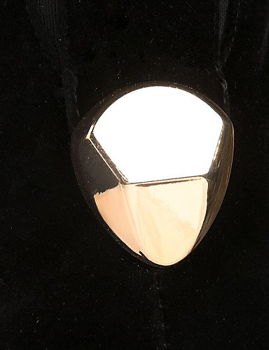 Uk6 Punta Eu39 5 Y Moda Cerrada Fiesta De La us8 Zapatos Negro Eu36 Vestido A Cn39 us5 Black Cn35 Vellón Xzz Botas Uk3 Redonda Black Mujer Tacón Stiletto Noche 5 X1n6fR